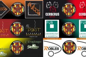 Cartells dels diferents patrocinadors que han aprofitat la iniciativa.